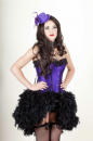 Purple Satin (Steel Busk) Corset with Feather Bustle (Lydia)